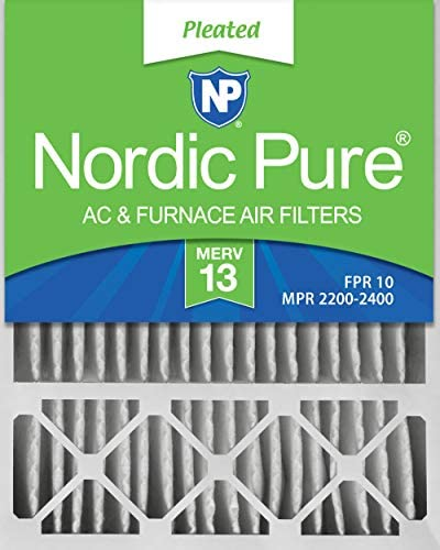 Nordic Pure 20x25x5 (4-3/8 Actual Depth) MERV 13 Lennox X6673 X6675 Replacement AC Furnace Air Filter 2 PACK 2 piece