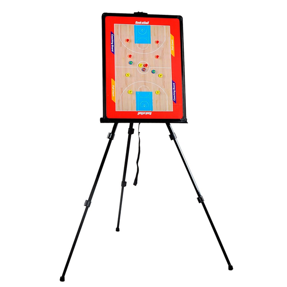 Odowalker Baketball Tactic Coaching Board Strategy Game Plan Whiteboard Dry Erase Marker Board Training Equipment - Large Size with Tripod Stand and Carrying Tote