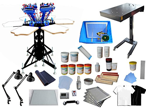 6 Color 6 Station Screen Printing Kit by Screen Printing Kit