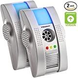Hoont 2 Pack Plug-in Electronic Robust Pest Eliminator + Night Light - Eliminates Rodents and Insects [UPGRADED VERSION]