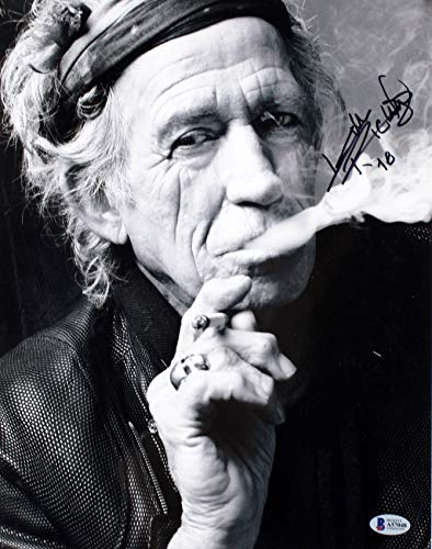 Keith Richards Rolling Stones Authentic Signed 11x14 Photo BAS #A57048