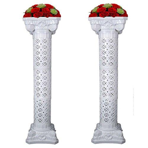 Amon Tech 2PCS Wedding Roman Column Set Elegant Wedding Event Decorative Columns 53 Tall Adjustable Height