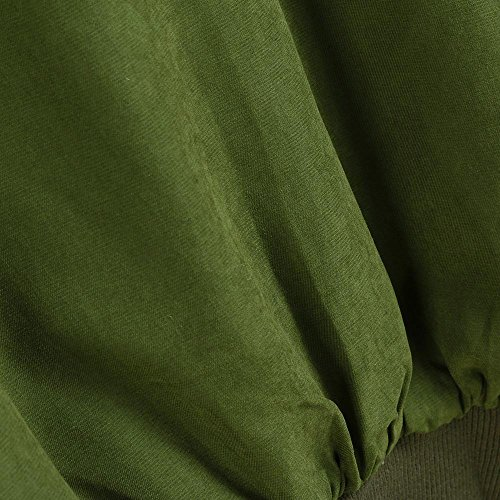 SóLida Suelto con Chaqueta Cazadora Verde Cremallera Capucha Caqui OverDose De Abrigo AlgodóN Con mujer Bolsillos Parka Invierno Abrigo wUXnxq8z7x