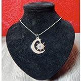 Soy Luna Dije Collar Medalla Luna Sol Piedra de Fantasia