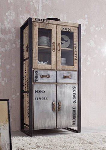 Trendy solido completo mobili mango legno ferro stampata - Mobili industriali vintage ...