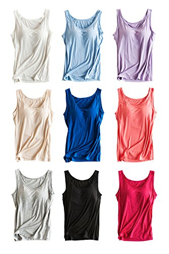 Pink Wind Bra Padded Cami Tanks Tops for Women