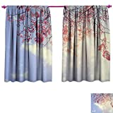 Best Greenland Home Home Fashion Pinks - Anniutwo Tree Waterproof Window Curtain Pink Flowers on Review