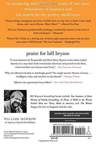 The Lost Continent Travels In Small Town America Bryson Bill 9780060920081 Amazon Com Books