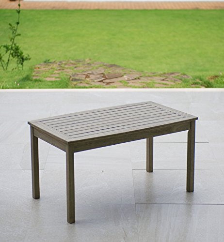 Cambridge-Casual 170267 West Lake Coffee Table, Weathered Grey Mahogany Outdoor Table