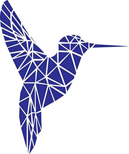 "8d7663089b Vinyl Wall Art Decal - Geometric Hummingbird Outline - 28"" x 23""  - Beautiful"