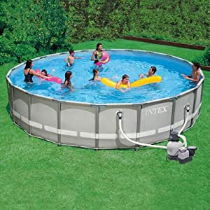 Intex Ultra Frame Swimming Pool 20 Ft X 52 In 1600gph Filter Above Ground