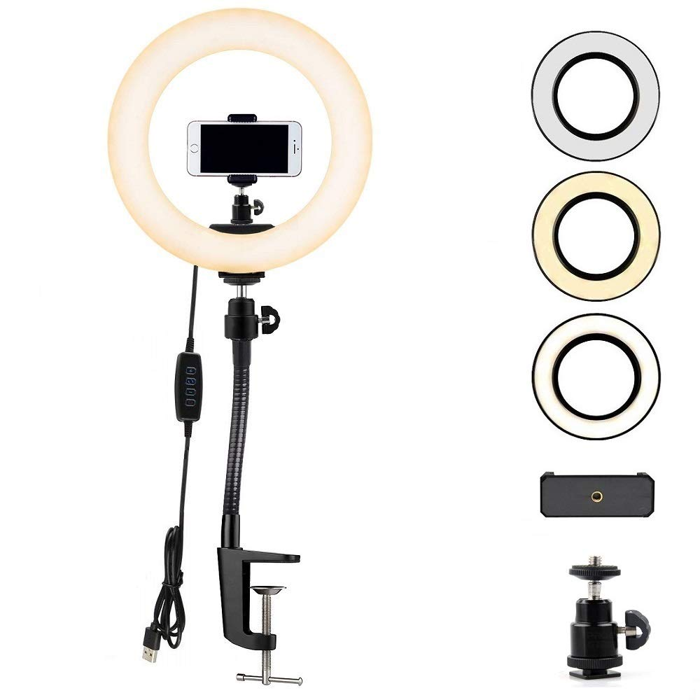 Phone Ring Light, 12'' Ring Light with Stand for Cell Phone, iPhone, Samsung,3-6.5 inches Phone - Acetaken