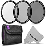 52MM Altura Photo Professional Photography Filter Kit (UV, CPL Polarizer, Neutral Density ND4) for Camera Lens with 52MM Filter Thread + Filter Pouch