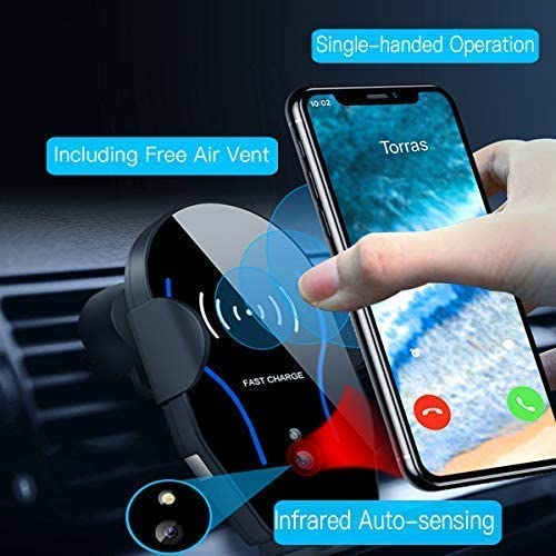 10W Fast Charging Car Cup Phone Holder/&Air Vent Wireless Car Charger, Automatic Infrared-Sensing Car Phone Mount Fits for Samsung Galaxy S10//S10+,iPhone 11//11 Pro//11 Pro Max//X//XS Max,QI-Enabled Phone