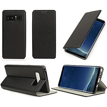 Piel Samsung Galaxy Note 7 negro estilo con stand - Funda flip ...
