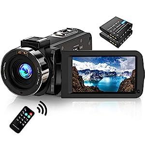 Flashandfocus.com 51u1KlgievL._SS300_ Video Camera Camcorder FHD 1080P 30FPS 36MP IR Night Vision YouTube Vlogging Camera Recorder 3.0'' 270 Degree Rotation…