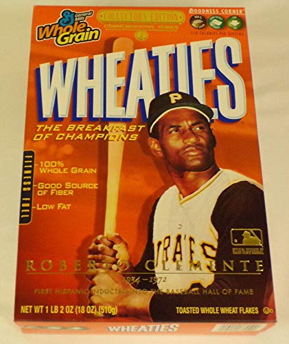 Roberto Clemente RARE 2005 Wheaties Promotional Cereal Box w/Media Kit Pirates