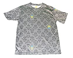 Despicable Me Minions All-Over Graphic Boys T- Shirt (X-Large)