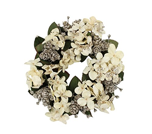7-inch with 3.25 Inner Ring Artifical Hydrangea, Mini Pineco