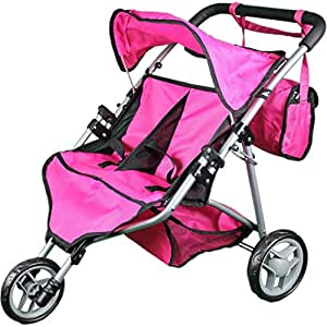 Amazon Com Mommy Amp Me Twin Doll Stroller With Free