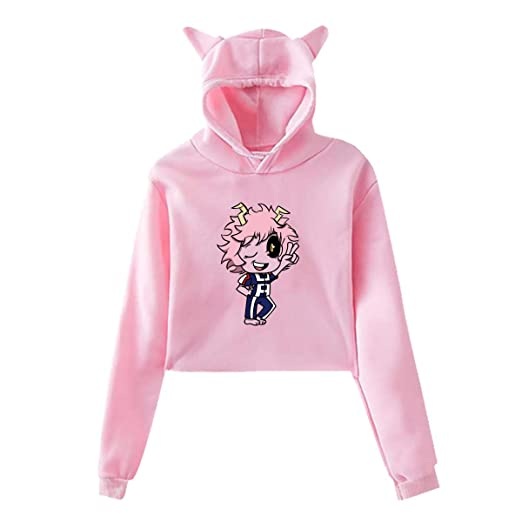 Amazon Com My Hero Academia Pinky Ashido Mina Crop Top