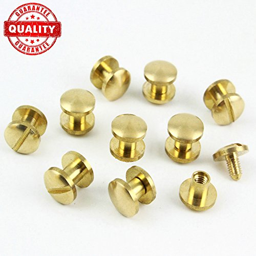 Chicago Bolt (Chicago Binding Screws sex bolt barrel nut barrel bolt post screw Slotted/minus head, Suitable for all kind of art and leather, Made of Stainless Steel never rust Length 1/4