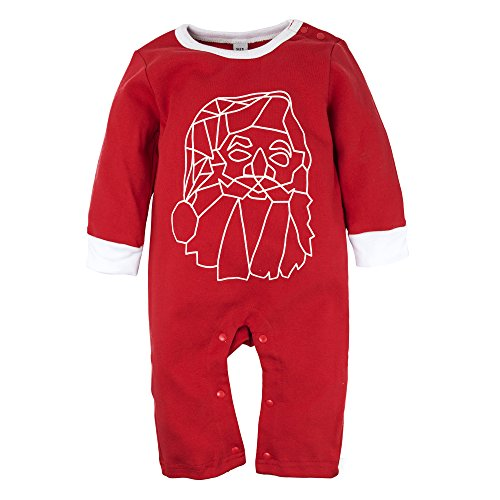 Big Elephant Baby Boys' 1 Piece Long Sleeve Christams Santa Claus Romper G61