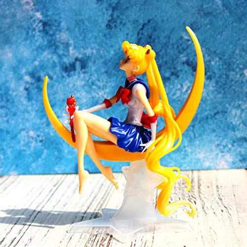 YSpring POP Anime Sailor Moon Elegant Tsukino Usagi Princess Collectible Resin Action Figure Home Decorative Ornaments(Style C)