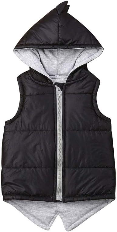 Kids Baby Boys Hooded Coats Hoodie Winter Button Zipper Cotton Jacket Outwear Fi