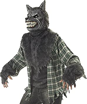 mens werewolf full moon madness halloween fancy dress costume size large men large