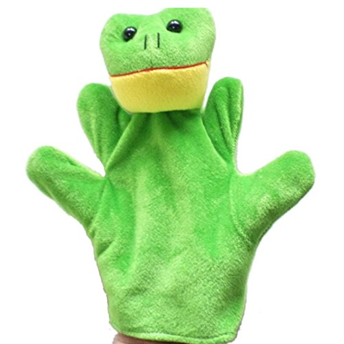 (Gotd Finger Puppets Baby Child Zoo Farm Animal Hand Glove Puppet Finger Sack Plush Toys (Frog))