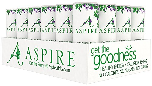 Aspire Healthy Energy  Calorie Burning  Zero Calorie  Zero Sugar Drink Apple   Acai 24 Count Case
