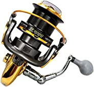 Large Size Fishing Reel 13BB 4.1:1 Distant Wheel Metal CNC Rocker Spinning Reel for Saltwater Sea Fishing for