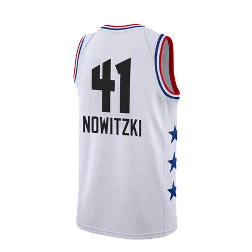 SPORTSBOYSPORTSBOY2019 Season All-Star NOWITZKI Letters Gou Owen Jersey Team Custom Black And White Hot Basketball Clothing