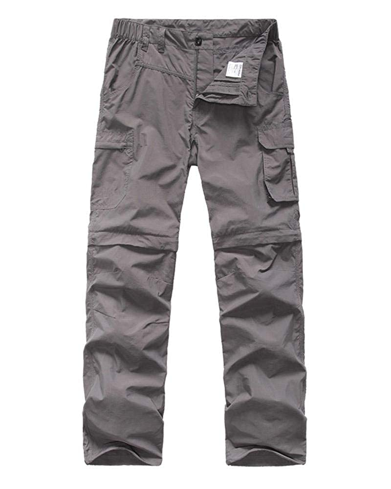 Kids Cargo Pants Boys Casual Outdoor Quick Dry Waterproof Hiking Climbing Convertible Trousers