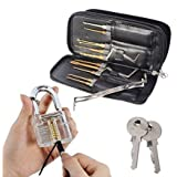 Onlyou® Stainless Steel Padlock Tools+ Practice Lock With Key