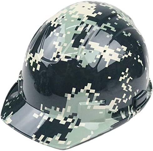 Troy Safety RK-HP34-CAMO Patterned Hard Hat Cap Style with 4 Point Ratchet Suspension (Camo)