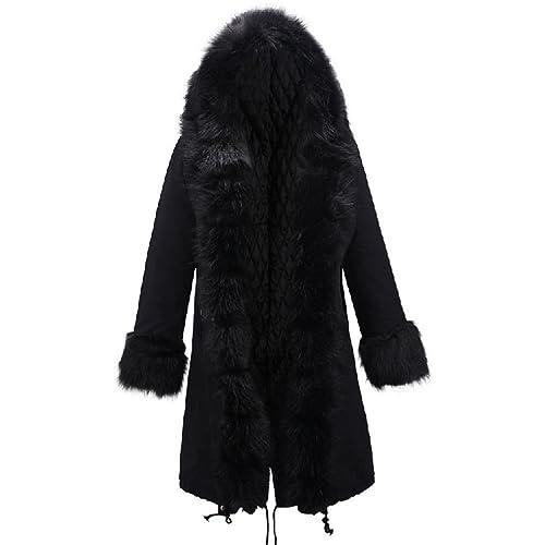 Mujer Encapuchado Largo Acolchado de algodón Chaqueta Talla grande Suelto Invierno Calentar Abrigos