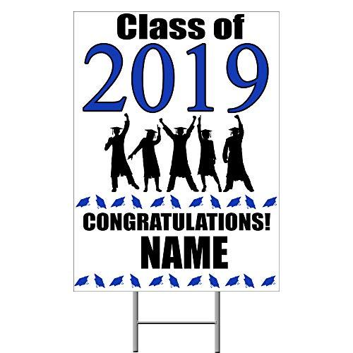 (2019 Graduation Blue Yard Sign (Each) Customized by)