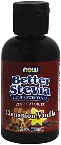 Better Stevia Liquid Sweetener, Cinnamon Vanilla 2 fl oz by Now Foods Pack of 3