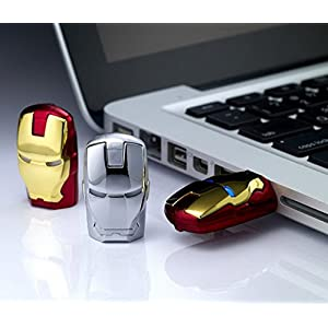 16GB Iron Man The Avengers USB Flash Drive with Blue Light, Red