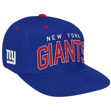 eef7af46457 Amazon.com   NFL Reebok New York Giants Royal Blue Retro Arch Logo Snapback  Adjustable Hat   Baseball Caps   Clothing