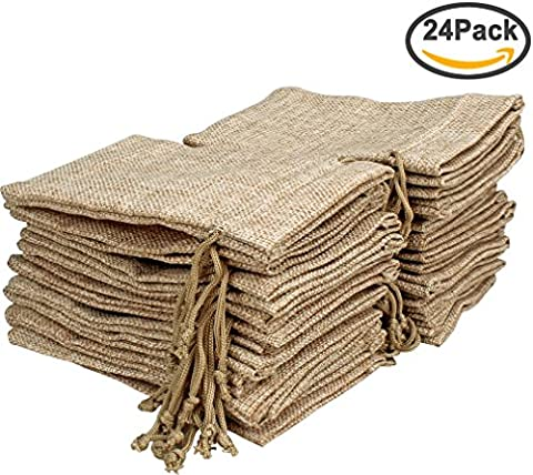 Amariver Natural Burlap Bags with Drawstring, Reusable Linen Pouches, Perfect for Jewelry Pouch, Wedding Birthday Parties Favor, Gift/Candy Bags, Pack of - Pouch Gift Set
