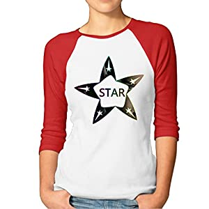 ^GinaR^ Women Middle Sleeve STAR WINDMILL TREK Fashion Bottoming Shirt