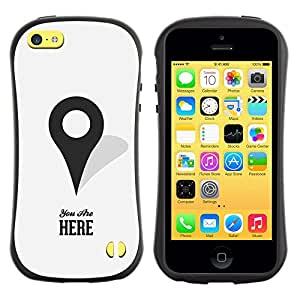 Suave TPU GEL Carcasa Funda Silicona Blando Estuche Caso de protección (para) Apple Iphone 5C / CECELL Phone case / / You Are Here Maps Marker Gps Minimalist /