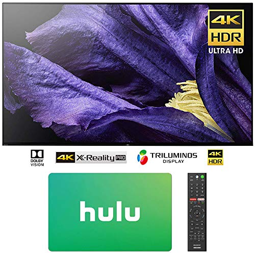 Sony XBR-65A9F 65″ 4K Ultra HD Smart BRAVIA OLED TV (2018 Model) w/ $50 Hulu Plus Gift Card