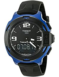 Men's T0814209705700 T-Race Touch Black and Blue Analog-Digital Watch