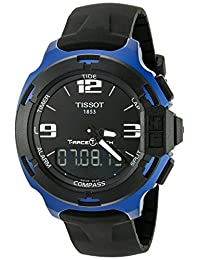 Tissot Men's T0814209705700 T-Race Touch Analog Display Swiss Quartz Black Watch