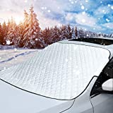 MITALOO Car Windshield Snow Cover, Ice Removal Sun Shade for Winter Protection, Universal Fit for Cars Trucks Vans and SUVs Thick and Large