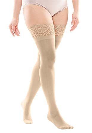d53719087 Woman Within Plus Size Lace Thigh-High Hosiery at Amazon Women s ...